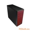 """Bitfenix Neos Midi-Tower Black/Red Black/Red,2x5,25"""",3x3,5"""",ATX,1xUsb,Audio,Táp nélkül,470x429x185mm,3x2,5"""",Ventillátor:12cm,1xUSB3.0"""