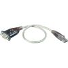 ATEN USB 2.0 adapter kábel 1 x D-SUB 9pól. - 1 x USB 2.0 dugó A, ezüst ATEN
