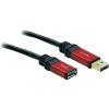 USB kábel 1 x USB 3.0 dugó A- 1 x USB 3.0 aljzat A, 3 m, piros, fekete, aranyozott