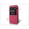 Haffner Samsung SM-G900 Galaxy S5 S-View flipes tok - pink