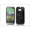 Haffner HTC One (M8) szilikon hátlap - S-Line - fekete