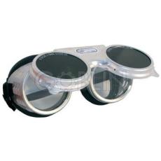 Lux Optical® Revalux hegesztõszemüveg, alumínium keret védett szellõzõlyukakkal, felhajtható, sötét...