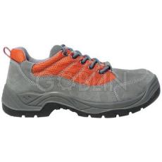 Coverguard SPINELLE (S1P) szürke velúr cipõ, szellõzõ narancs betét és fémgombok, acélkapli+talp