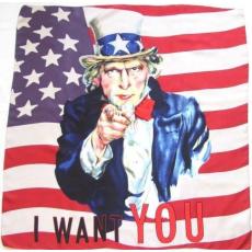 Selyem Kendő Uncle Sam