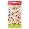 APLI Matrica, pufi, APLI, szívek (LCA13509)