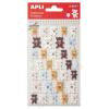 APLI Matrica, filc anyagú, APLI, Teddy macik (LCA13517)