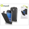 Muvit Samsung S7390 Galaxy Fresh flipes tok - Muvit Slim - black