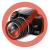 VIVA Galaxy S5 hívás mutató flip tok,Pink