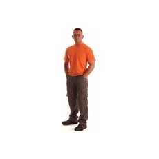 NEMMEGADOTT munkaruha derekasnadrág ROCK szürke-narancs (XL)