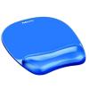 """FELLOWES Egéralátét csuklótámasszal, géltöltésű, FELLOWES """"Crystal™ Gel"""", kék (IFW91141)"""