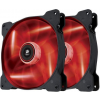 Corsair PC case fan Air Series SP140 RED LED  140mm  3pin  Twin Pack