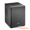 "Sharkoon CA-M Aluminium/Black Black,2x3,5"",microATX,2xUsb,Audio,Táp nélkül,270x225x285mm,3x2,5"",2xUSB3.0"