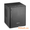 "Sharkoon CA-I Aluminium/Black Black,1x3,5"",ITX,Mini-ITX,2xUsb,Audio,Táp nélkül,213x225x259mm,1x2,5"",2xUSB3.0"