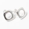 Ezüst bevonatos szögletes fülbevaló jwr-1448
