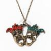 Antikolt nyaklánc köves álarc medállal jwr-1097