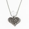 Szív medálos nyaklánc - ezüst bevonatos jwr-1210