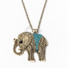Nyaklánc  kék köves elefánt medállal jwr-1108