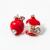 Köves almacsutka fülbevaló piros jwr-1073