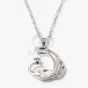 Páva medálos nyaklánc fehér kővel jwr-1328