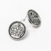 Antik ezüst bevonatos korona mintás fülbevaló jwr-1141