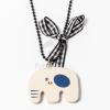 Fából készült elefánt medál nyakláncon jwr-1489