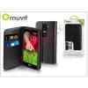 Muvit LG G2 Mini D620 flipes tok kártyatartóval - Muvit Slim and Stand - black