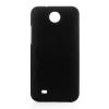 utángyártott Műanyag telefonvédő gumírozott FEKETE [HTC Desire 300]