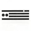 utángyártott Telefondísz matrica (oldalsó) FEKETE [Apple iPhone 5, iPhone 5S]