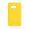 utángyártott Műanyag telefonvédő gumírozott SÁRGA [HTC Desire 200]