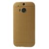 utángyártott Telefonvédő gumi / szilikon (lyukacsos mintás) ARANY [HTC One 2014 (M8)]
