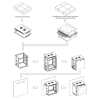 Linkbasic rack wall-mounting cabinet 19\'\' 15U 600x450mm black (steel front door)
