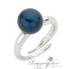 Boccadamo Jewels - Swarovski gyöngy ezüst gyűrű - Blue