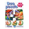 Dohány Duo Puzzle 8 x 2 darabos - farm