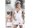Fehér, lakk nővérke ruha fantázia ruha