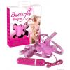 Felcsatolható pillangó vibrátor - pink