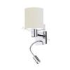 EGLO 90925 - HALVA fali lámpa 1xE27/40W+1xLED/2,38W fehér