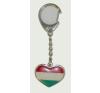 Kulcstartó - Nemzeti színű szív kulcstartó