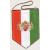 autós zászló, 5 szögletű, kétangyalos, arany színű zsinórral