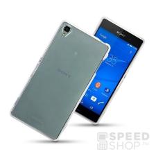 utángyártott Sony Xperia Z3 Ultra Slim 0.3 mm szilikon hátlap tok, átlátszó tok és táska