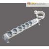 LEGRAND Elosztó 230 V-os, 6 aljzattal, túlfeszültség levezetővel, LEGRAND, 1,5 m kábelhosszúság