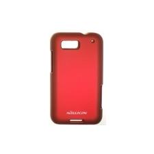 Nillkin Super Frosted érdes műanyag hátlaptok kijelzővédő fóliával Motorola MB525 Defy-hez piros* tok és táska
