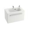 SD 600 Chrome szekrény a mosdó alá (fehér/fehér)
