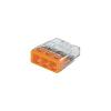 WAGO Sorkapocs, 3 pólus, 0,5-2,5 mm², narancs (átlátszó) WAGO COMPACT CONNECTOR