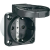 PCE Védőérintkezős gép dugaszoló aljzat, 230 V/AC 16 A IP54, fekete, PCE 601.450.01