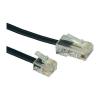 ISDN csatlakozókábel [1x RJ45 dugó 8p4c - 1x RJ11 dugó 6p4c] 6 m fekete Conrad
