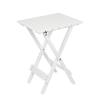 LODGE mini összecsukható asztal fehér FSC-Eukaliptusz