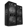 Malone Pár Auna PW-2222 PA DJ háromutas hangszóró 2 x 30cm 1000W