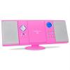 oneConcept V-12-BT, bluetooth sztereó berendezés, rózsaszín