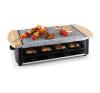 Klarstein raclette grillező természetes kőlappal,8 fő,1200 W raclette