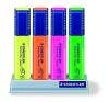 STAEDTLER Szövegkiemelő készlet, 1-5 mm, asztali, STAEDTLER, 4 különböző szín filctoll, marker